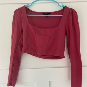 Forever 21 red cropped going out top